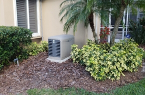 Generator in garden area